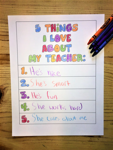 5 Things I Love About My Teacher