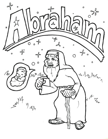 Abraham Coloring Page Childrens Ministry Deals