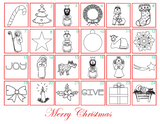 FREE Advent Coloring Calendar