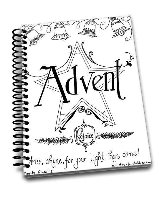 FREE Advent Story Coloring Book