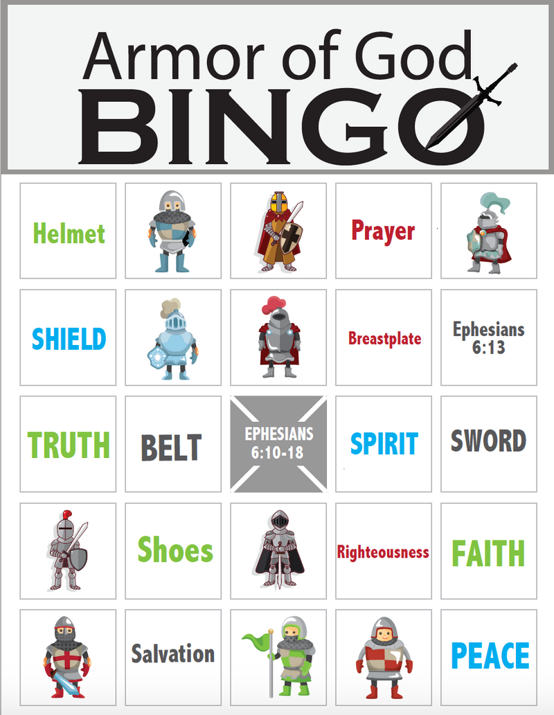 Armor of God Bingo