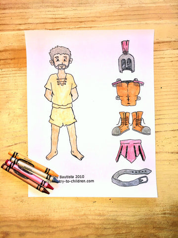 FREE Armor of God Coloring Page