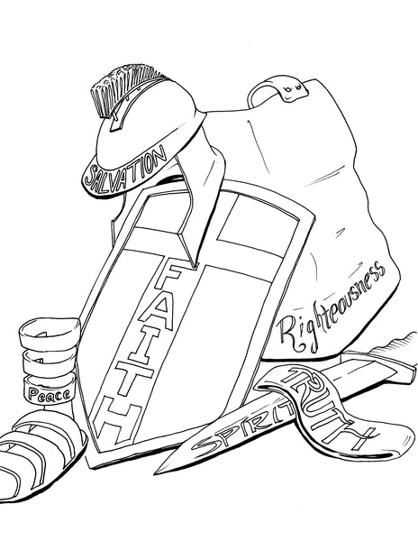 armor of god coloring pages lds | Breastplate Armor Of God Pages Coloring Pages