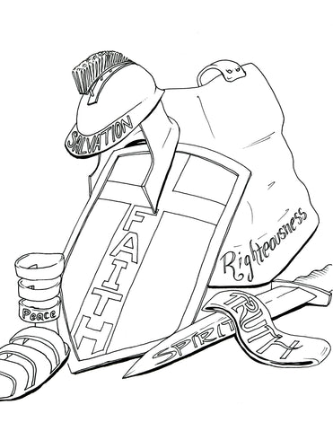 Armor Of God Coloring Page Children S Ministry Deals God Is Coloring Page