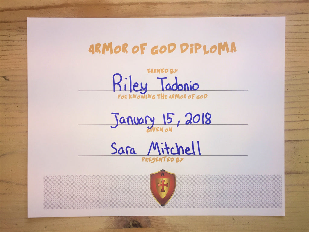 FREE Armor of God Diploma
