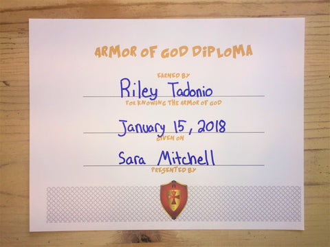 Armor of God Diploma
