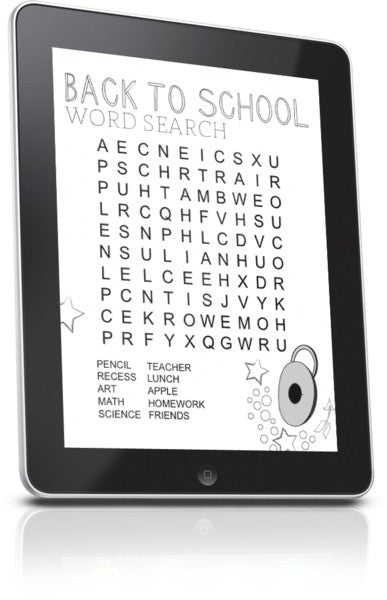 FREE Back To School Word Search