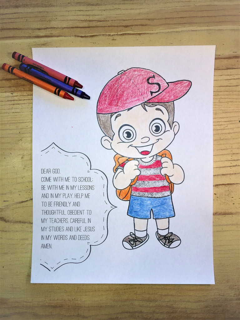 FREE Back to School Coloring Page