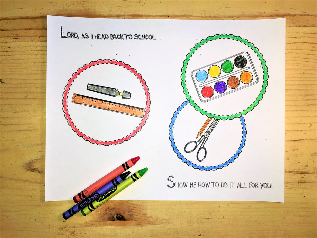 FREE Back to School Coloring Page- School Supplies