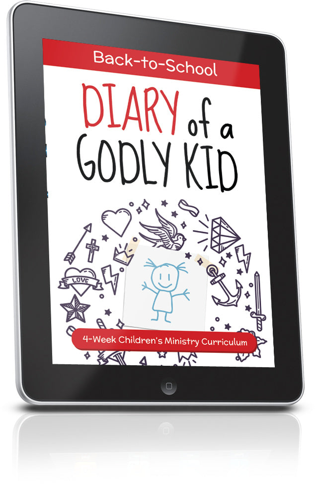 FREE Diary of a Godly Kid Back to School Children's Ministry Lesson