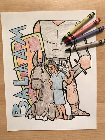 FREE Balaam Coloring Page
