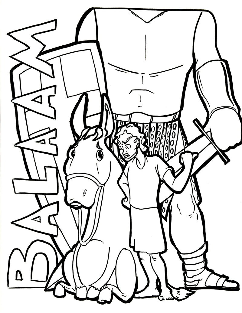 Balaam Coloring Page