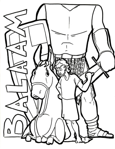 Balaam Coloring Page – Children\'s Ministry Deals