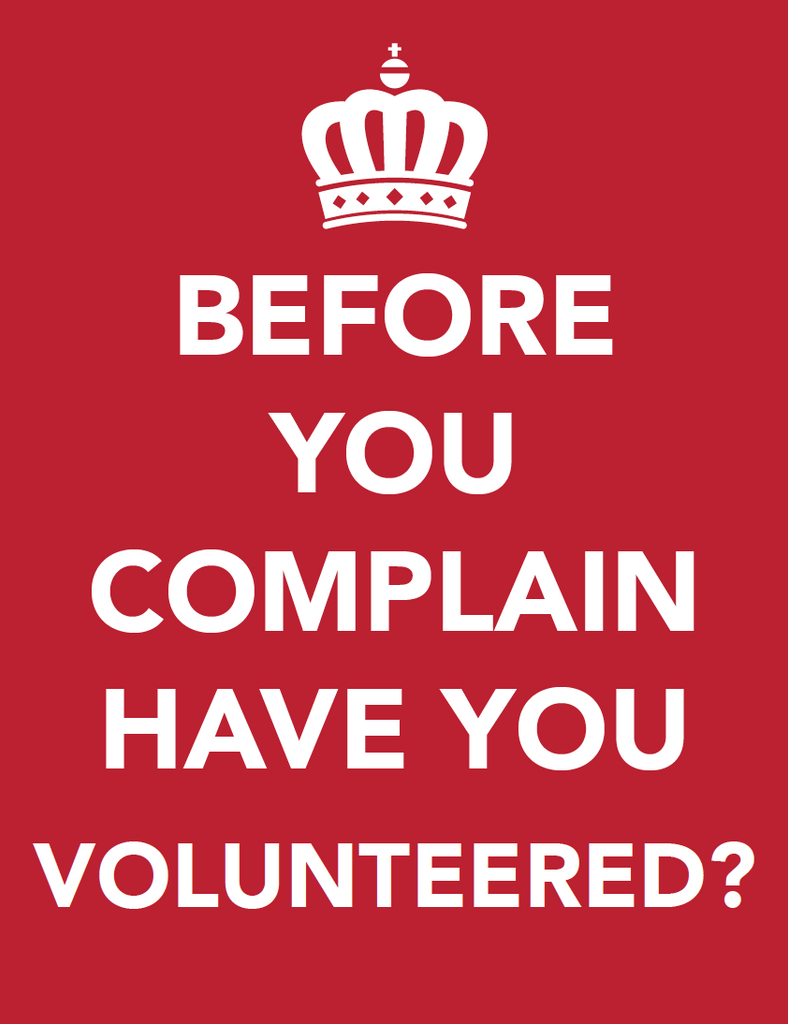 Before You Complain Volunteer Poster