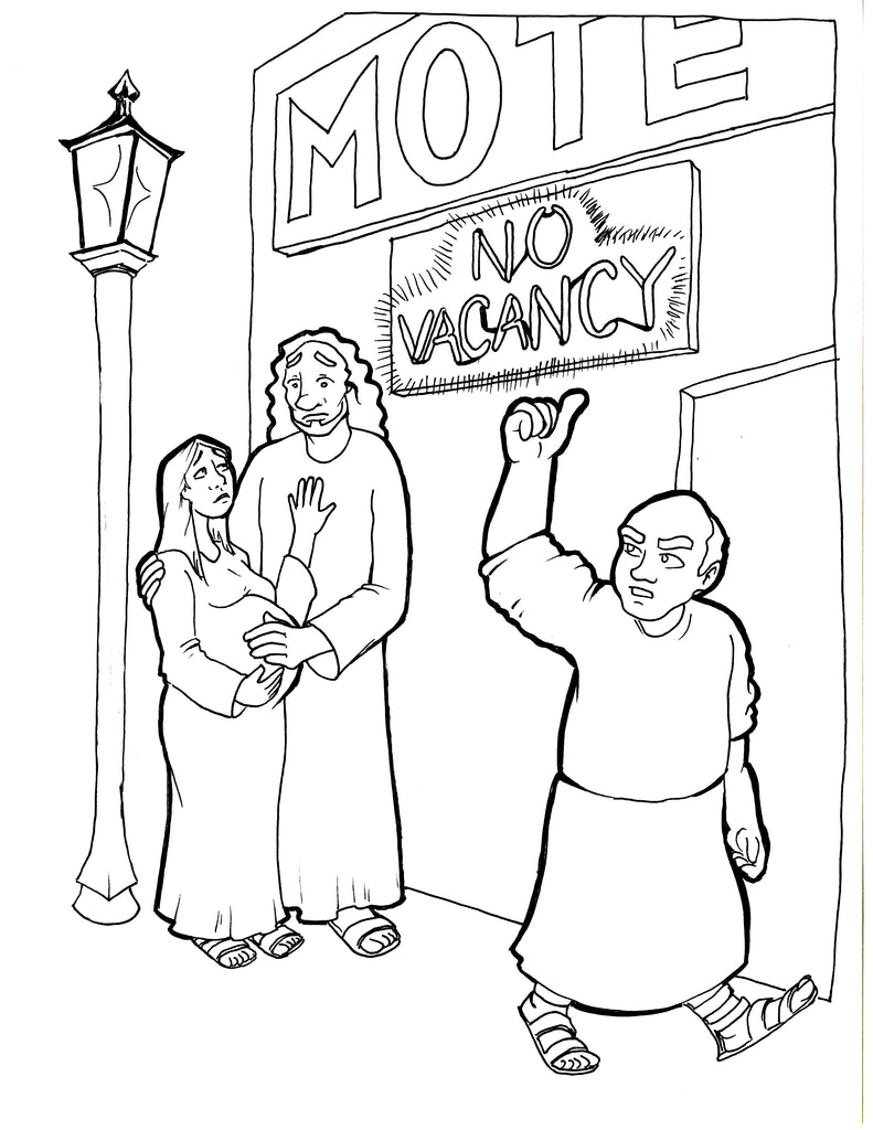 No Room in the Inn Coloring Page