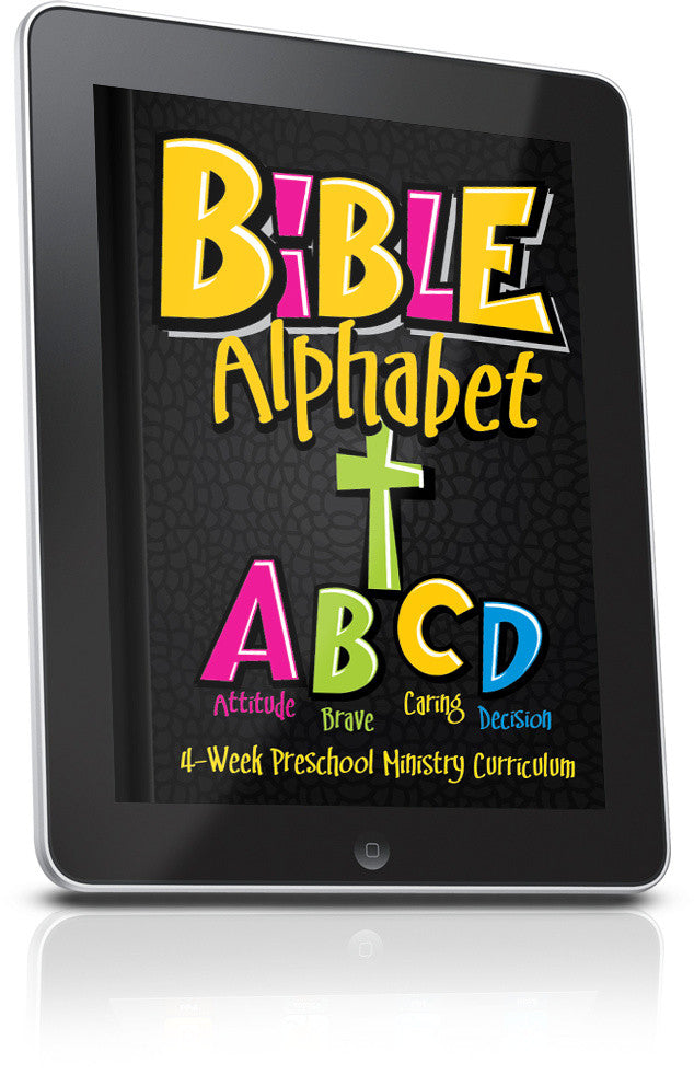 FREE Bible Alphabet Preschool Ministry Curriculum Lesson