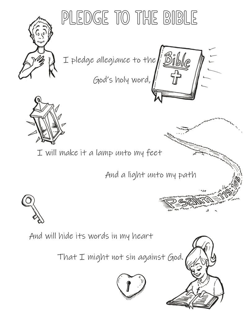 Bible Pledge Coloring Page