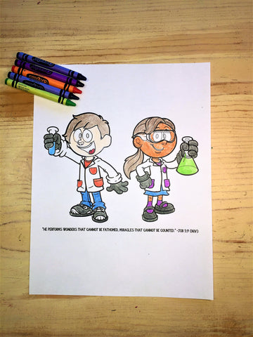 FREE Bible Science Coloring Page