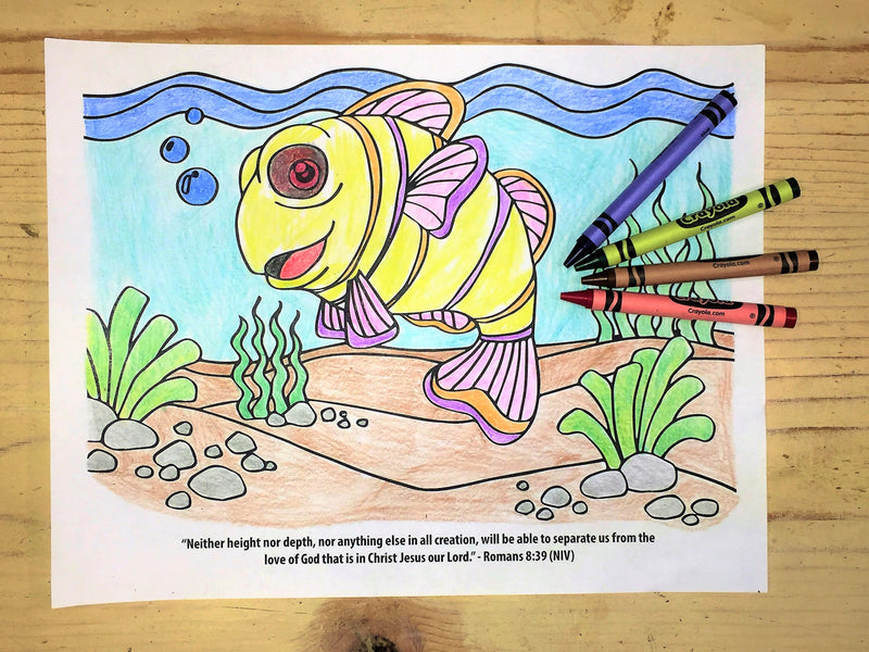 Finding Jesus Under The Sea Coloring Page