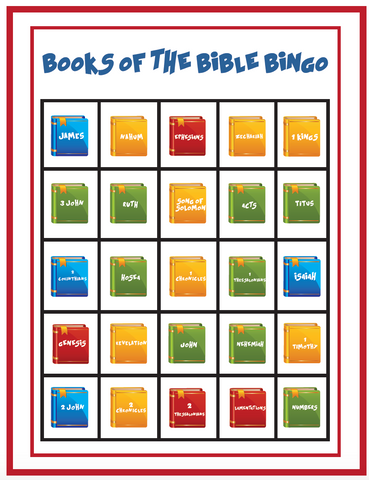 Books of the Bible Bingo