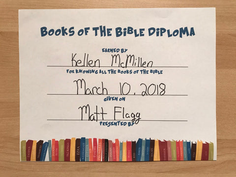 FREE Books of the Bible Diploma