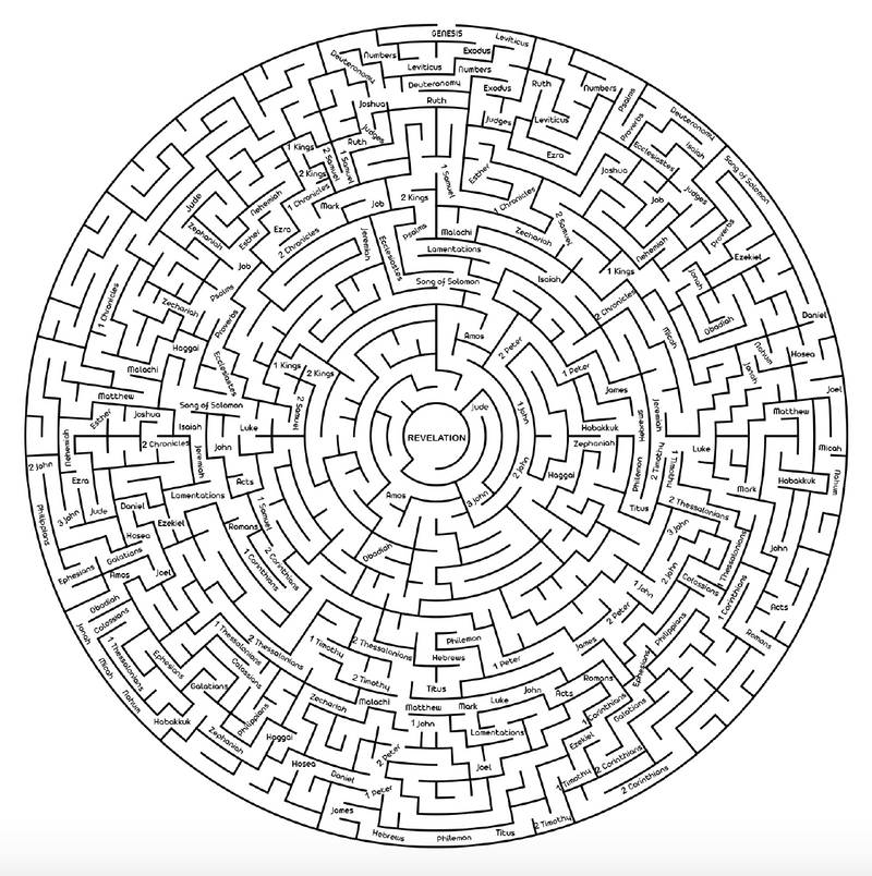 Books of the Bible Maze
