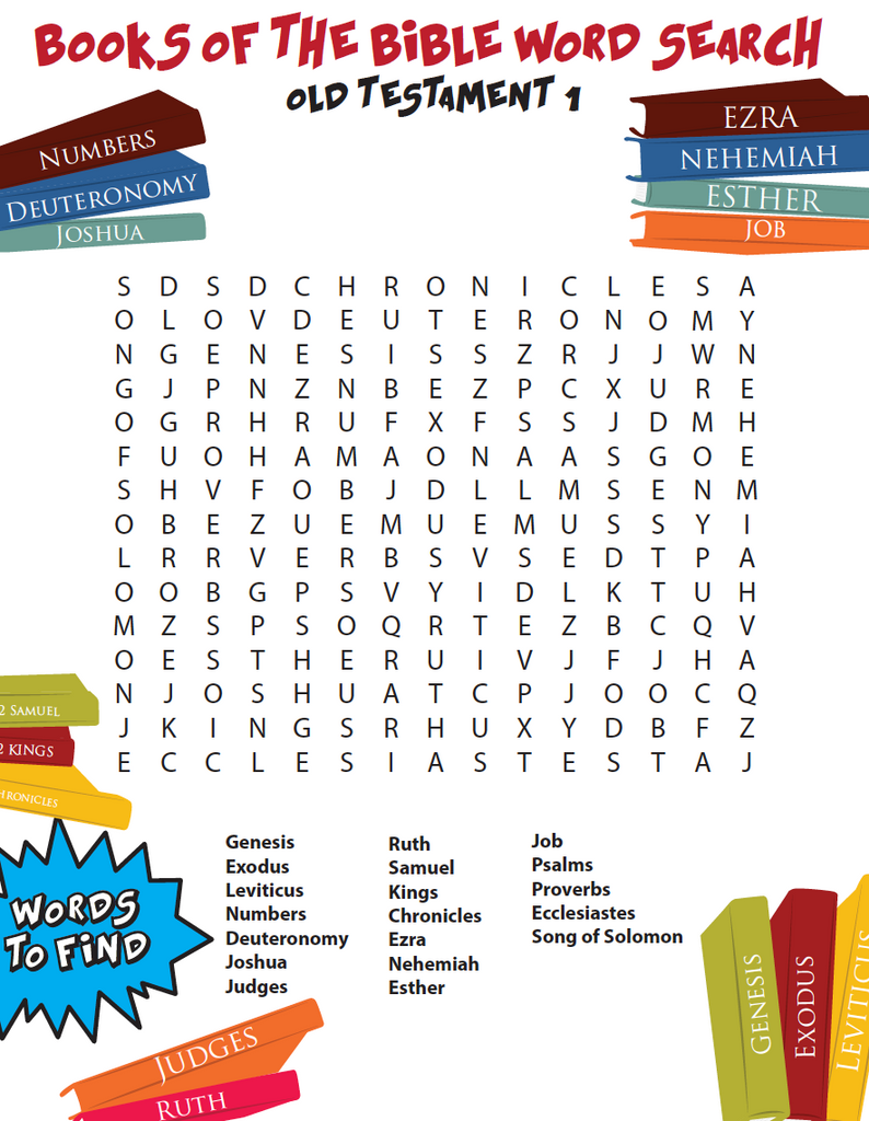 Books of the Bible Word Search - Old Testament Part 1