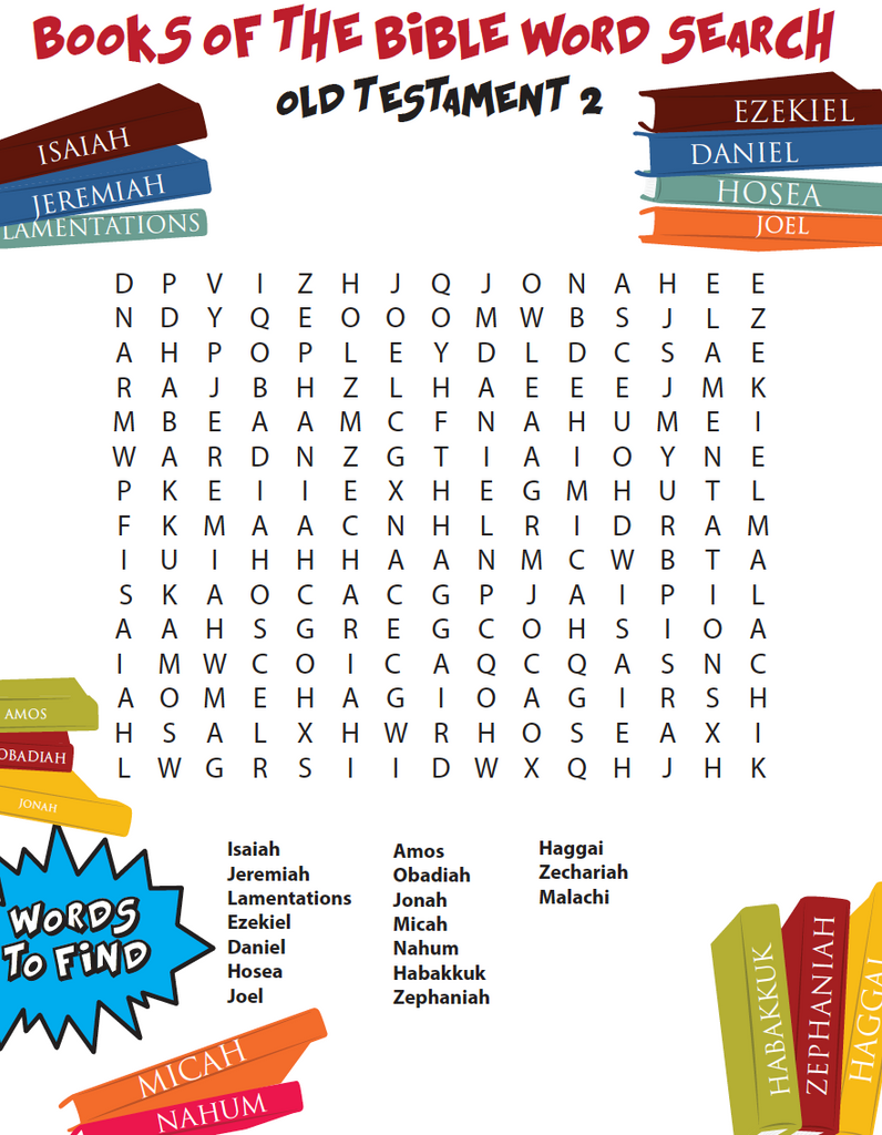 Books of the Bible Word Search