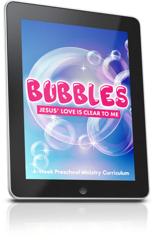 FREE Bubbles Preschool Ministry Lesson