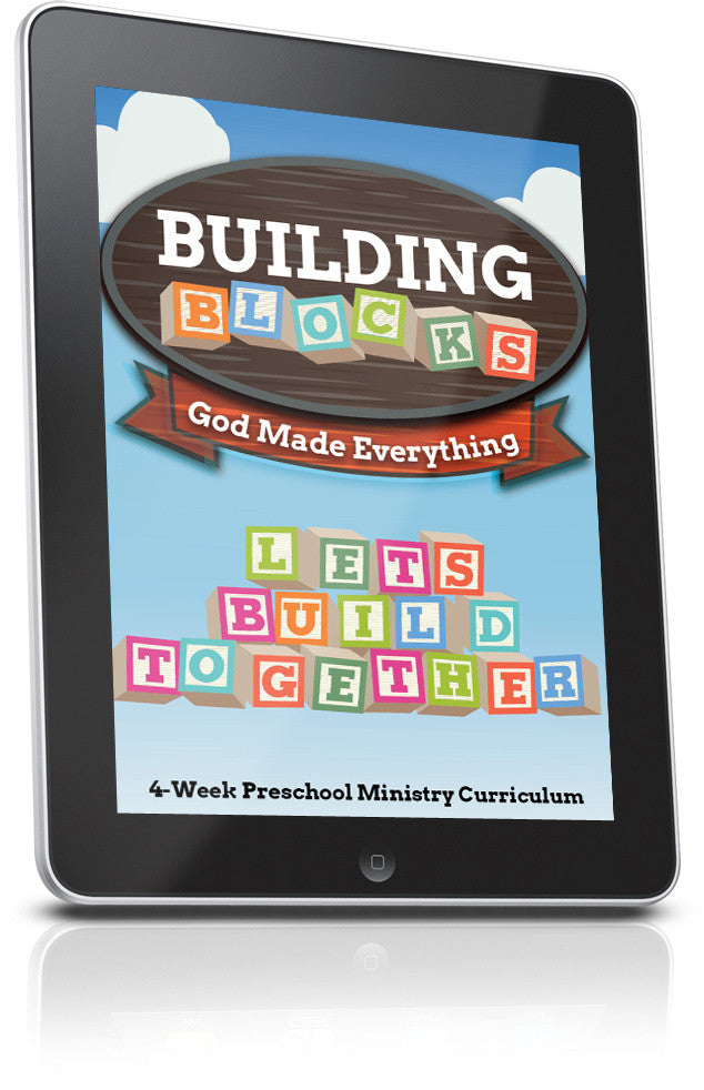 FREE Building Blocks Preschool Ministry Lesson