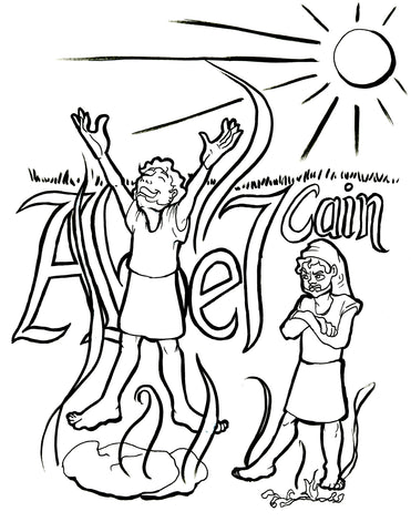 Cain And Abel Coloring Page | Bible coloring pages, Cain and abel ... | 480x371