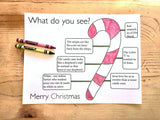FREE Candy Cane Coloring Page