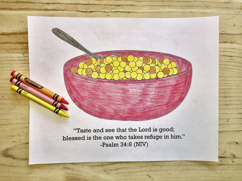 FREE Cereal Coloring Page