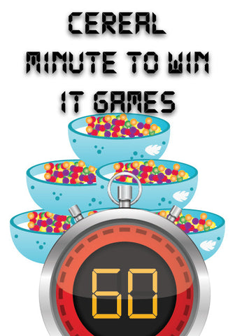 Cereal Minute to Win It Games