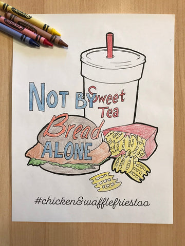 Chicken and Waffle Fries Coloring Page