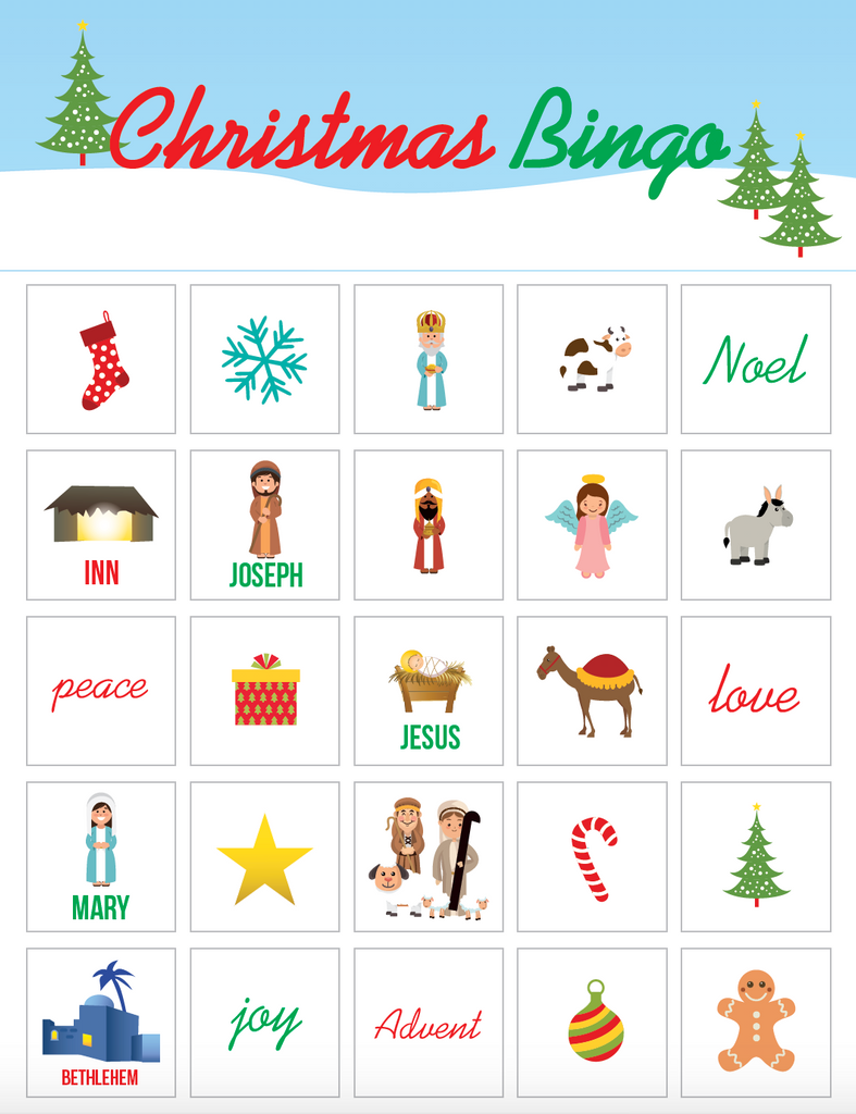 photo about Free Printable Bible Bingo Cards named Xmas Bingo Activity For Youngsters