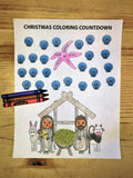 FREE Christmas Coloring Countdown