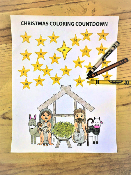 Christmas Coloring Countdown - Children's Ministry Deals