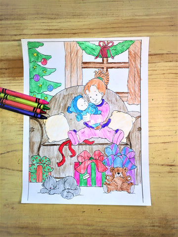 FREE Christmas Coloring Page- Presents