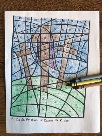 Easter Color By Number Coloring Page