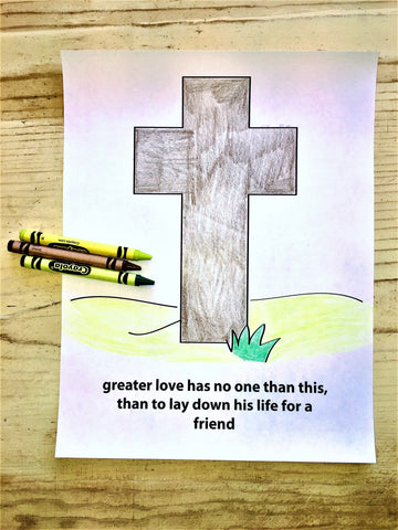 The Cross Coloring Page