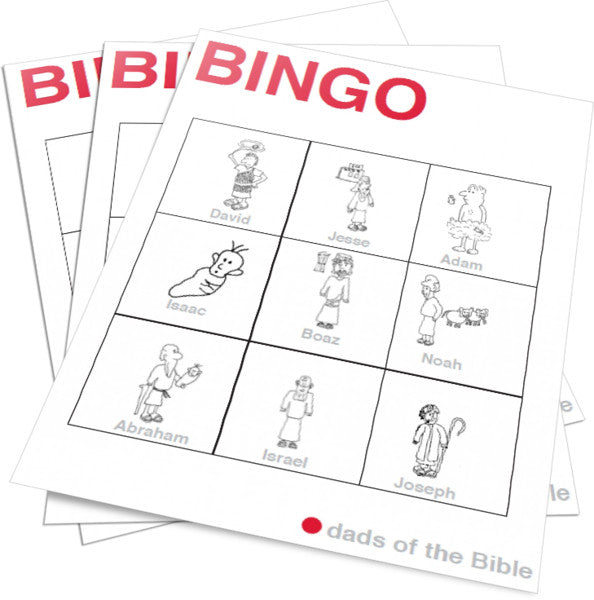 picture about Bible Bingo Printable named Dads inside the Bible Bingo