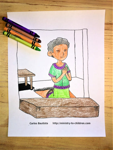 FREE Daniel Coloring Page