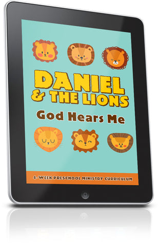 FREE Daniel and the Lions Preschool Ministry Lesson