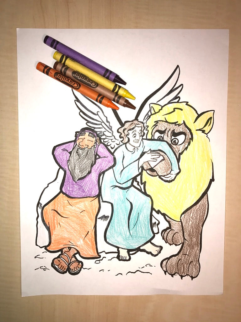 daniel in the lions den coloring page children s ministry deals