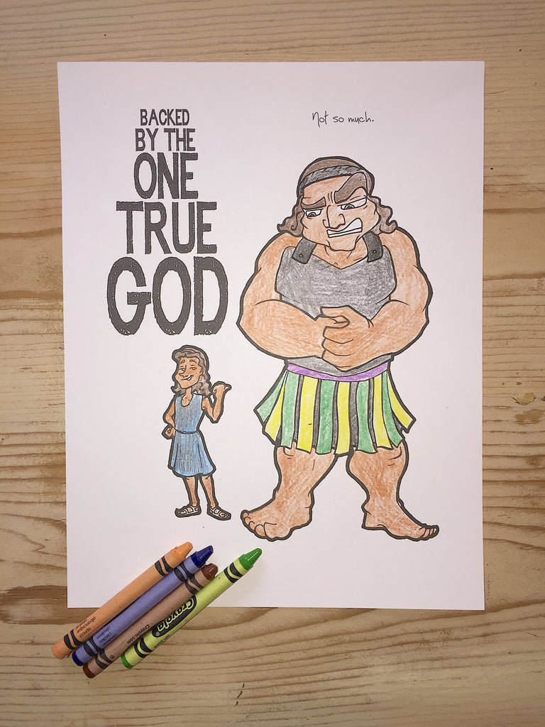 FREE David and Goliath Coloring Page