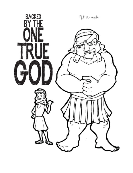 david and goliath coloring page Coloring Page