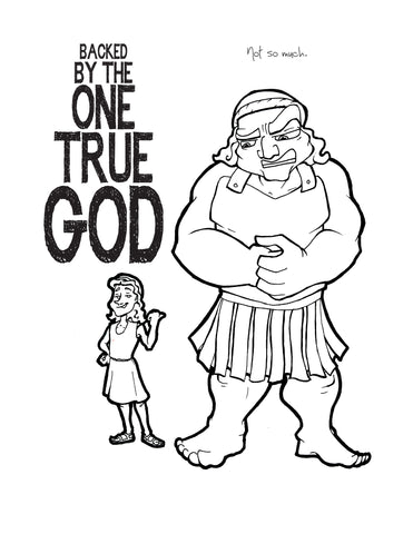 david and goliath coloring page children s ministry deals