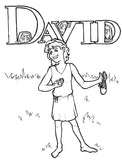 FREE David as a Boy Coloring Page