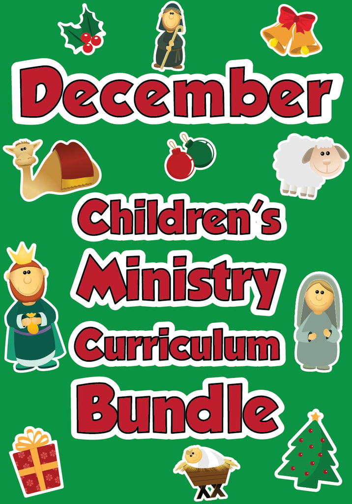 December Children's Ministry Curriculum Bundle
